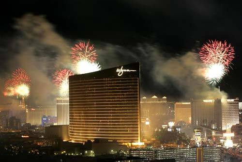 New Year's Fireworks at Wynn Las Vegas