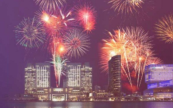 New Year Fireworks at Rosewood Abu Dhabi