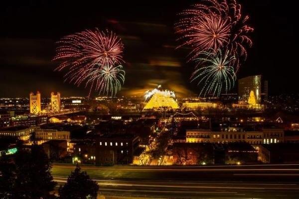 Sacramento New Year Fireworks