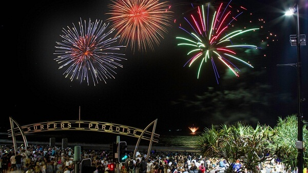 Surfers Paradise New Years Fireworks