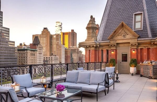 Rooftop or Terrace of The Beekman Hotel, NYC
