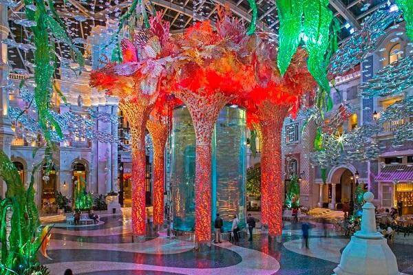 Nighttime Overview of MGM Casino Resort Macau