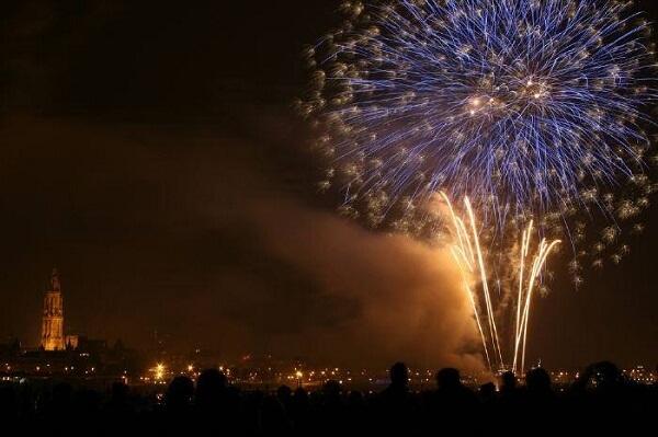 Antwerp New Year Fireworks