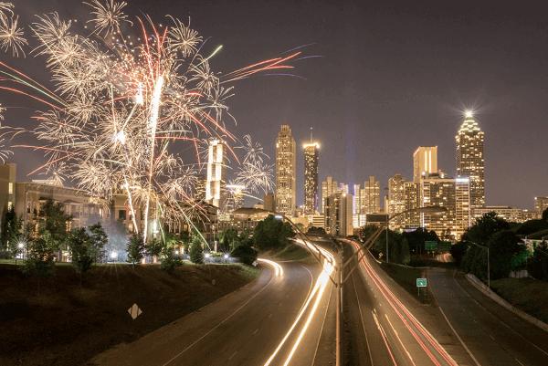 Atlanta Downtown New Years Eve Fireworks