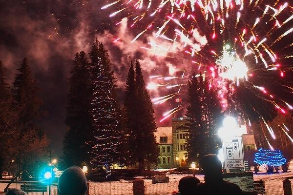 Banff New Year Fireworks