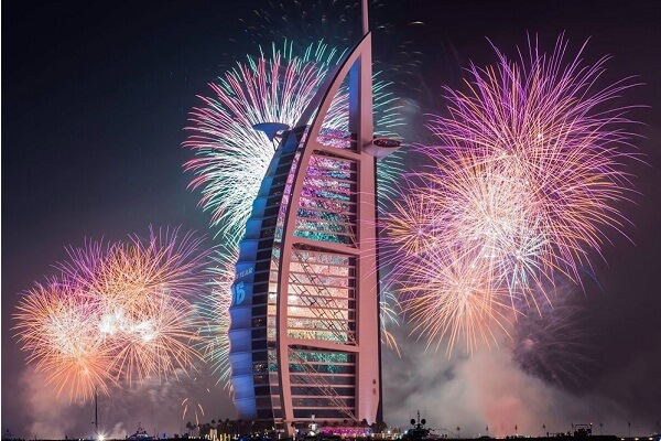 Burj Al Arab New Year Fireworks