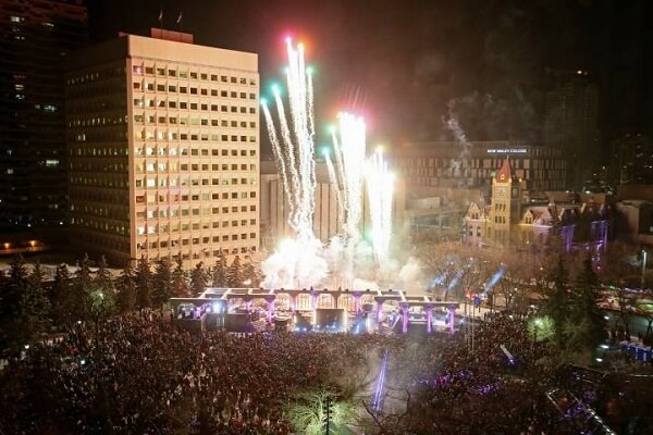 Calgary New Year Fireworks