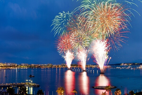 Cannes New Year Fireworks