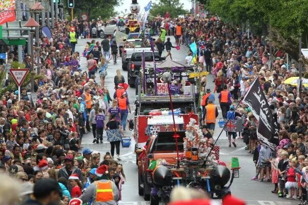 Christmas Parade in New Plymouth NZ