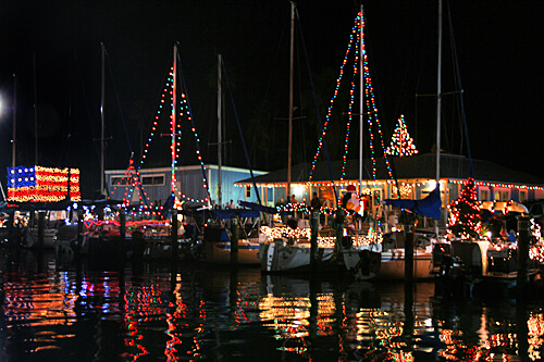 Christmas Boats Parade in Dunedin