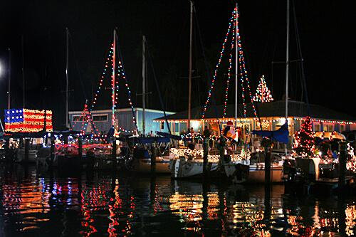 Christmas Boats Parade in Dunedin