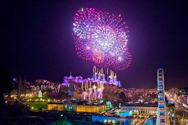 Edinburgh New Year Fireworks