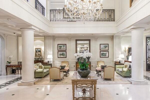 Interiors of Hermitage Hotel Monte Carlo