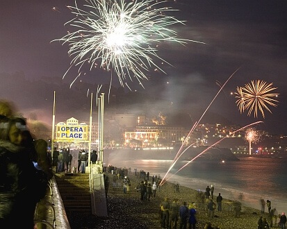 Nice France New Year Fireworks