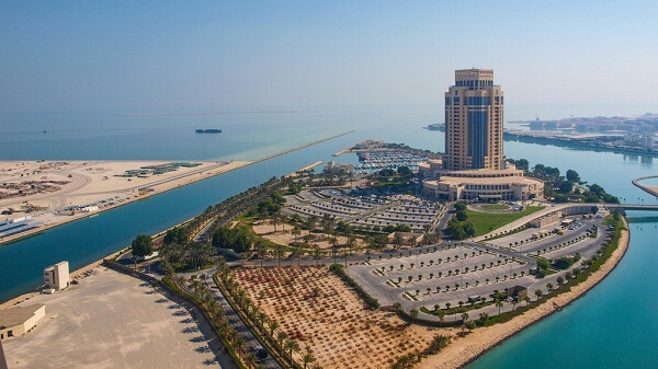 Aerial View of The Ritz-Carlton Hotel, Doha