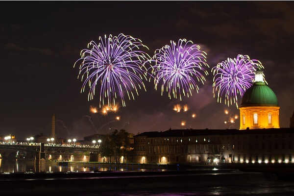 Toulouse New Year Fireworks