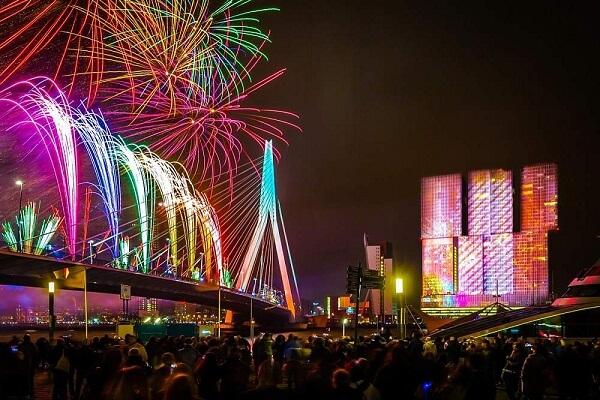 Rotterdam New Years Eve Fireworks