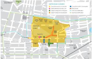 Bendigo Easter Procession Parade Route Map
