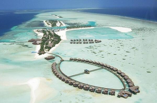Aerial View of Olhuveli Beach & Spa Resort Maldives