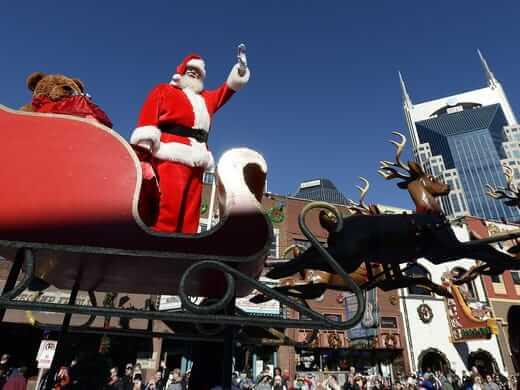 Decorative Floats @ Christmas Parade in Nashville
