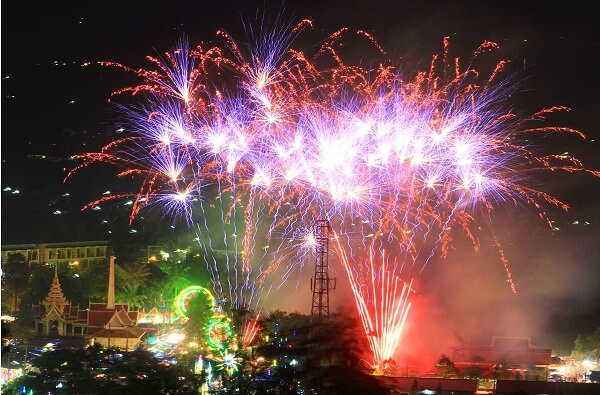 New Year Fireworks Patong Beach