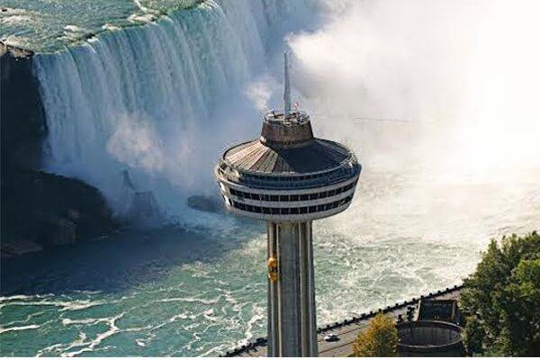 Skylon Tower Ride on the Top for Niagara Falls