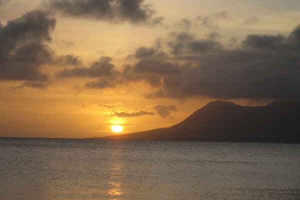 Sunset View from St Kitts Cruise