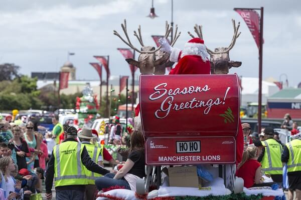 Christmas Parade in Palmerston North, NZ