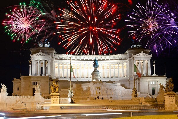 Rome New Years Eve Fireworks