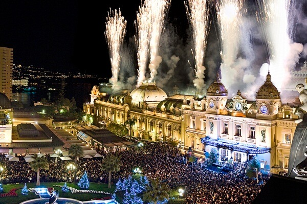 Best New Year Fireworks view from Hôtel Hermitage Monte-Carlo