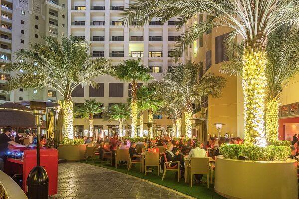 Lawn Sitting at Amwaj Rotana Hotel Dubai