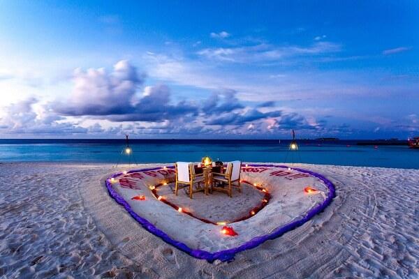Beach Side Dinner at Centara Grand Island Resort Maldives