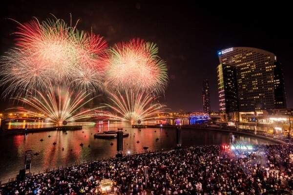 Best New Years Eve Fireworks View from InterContinental Dubai Festival City