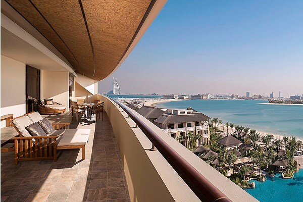 Burl Al Arab Hotel View from Sofitel Dubai The Palm