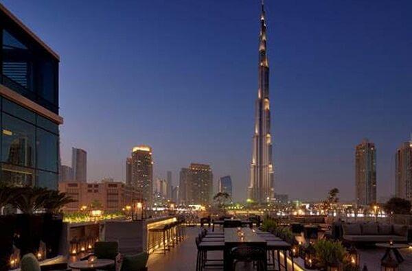 Burj Khalifa View from the Taj Hotel Dubai