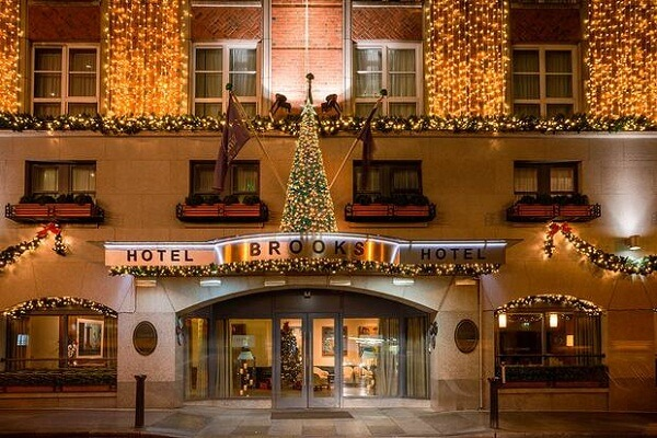 Christmas Decorations at Brooks Hotel Dublin