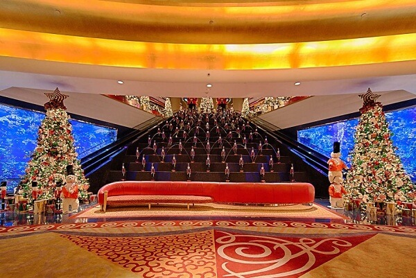 Christmas Tree in Burj Al Arab