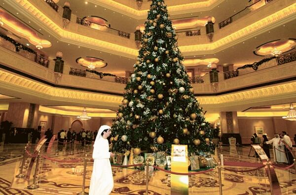 Christmas Tree in Emirates Palace Hotel Abu Dhabi