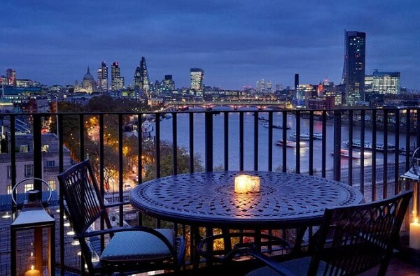 Best View of London New Years Eve Fireworks from The Savoy Hotel London