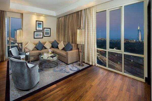 Burj Al Arab View from Kempinski Hotel Mall of the Emirates Dubai