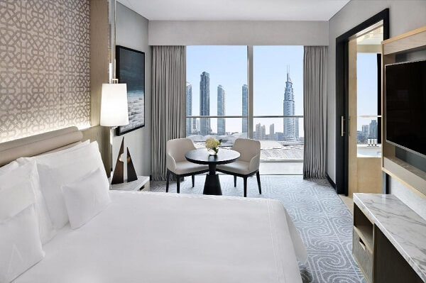 Best View Room at The Address Dubai Mall Hotel