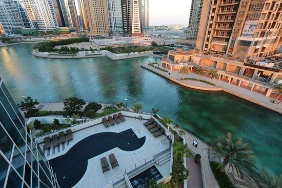 Best View from Mövenpick Hotel Jumeirah Lakes Towers