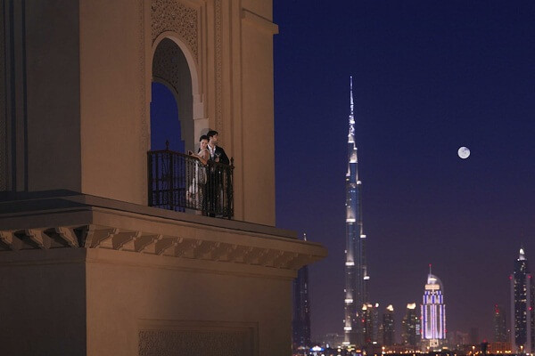 Burj Khalifa View from Four Seasons Resort Dubai at Jumeirah Beach
