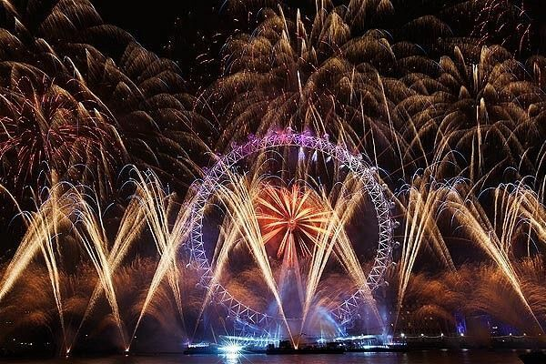 New Year's Eve Fireworks at London Eye