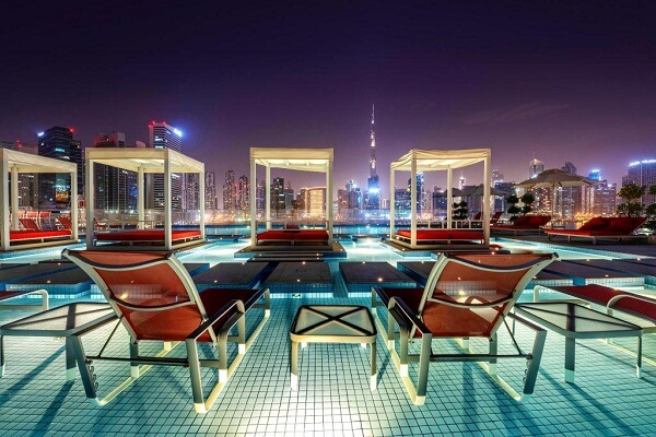 Rooftop at Canal Central Hotel Dubai