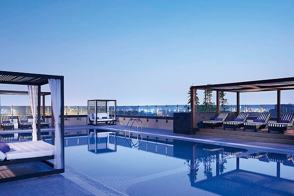 Rooftop Pool at Pullman Dubai Creek City Centre