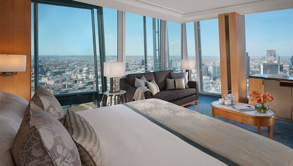 Room with View at Shangri-La Hotel London at the Shard