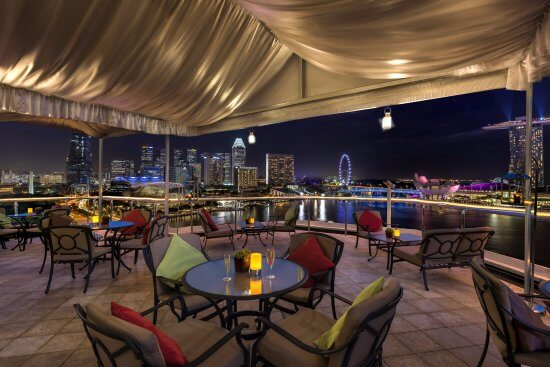 The Lighthouse Restaurant and Rooftop Bar at The Fullerton Hotel Singapore