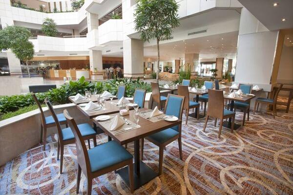 Atrium Restaurant at Hilton Prague