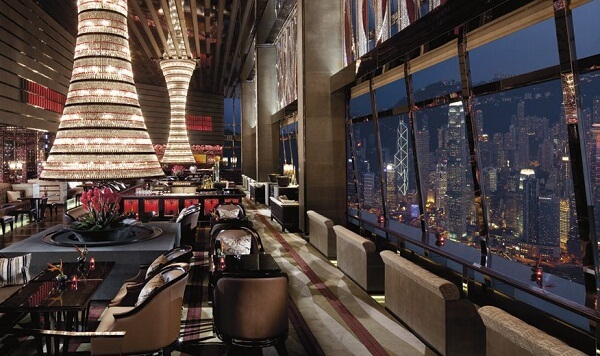 The Lounge and Bar at The Ritz-Carlton Hong Kong